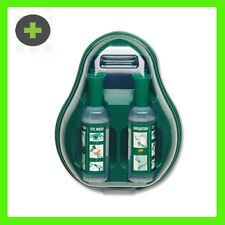 2x Covered Eye Wash Stations each with x2 500ml Saline Bottles