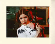CARRIE FISHER STAR WARS PRINCESS LEIA PP 10X8 MOUNTED SIGNED AUTOGRAPH PHOTO