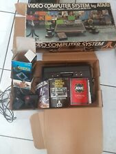 Atari 2600 Video Game Console in Original Box with ~100 Game Cartridges