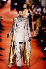 VIVIENNE WESTWOOD 1993 Flannel jacket and maxi length coat Linda Evangelista Orb