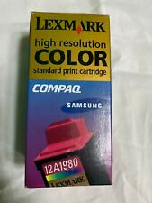 Lexmark 12A1980 High Resolution Color Ink Cartridge sealed box