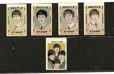 Beatles Vintage 1965 Hallmark Stamps- Setof All 5- Great Beatle Collectible!