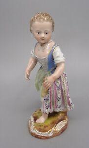 1st Quality 19th Century Meissen Porcelain Girl