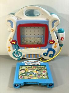 2002 Mattel Learn Through Music Touch Pad Game Player 89452 W/ Blues Clues ~READ