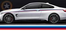 BANDE 140cmX7,5cm POUR BMW M3 MOTORSPORT RACING AUTOCOLLANT STICKER BD526