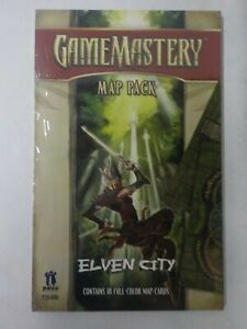"""N Elven City Game Mastery Map Pack 5""""x8"""" Cards Paizo 18 Full-Color Map D&D"""