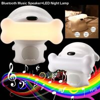 Wireless Portable Bluetooth Music Speaker Touch Lamp Desk Bedside Night Light US