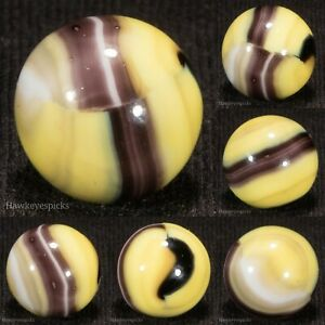 BEAUTIFUL Marble King HYBRID BUMBLEBEE Vintage Marble 5/8 Mint hawkeyespicks sg