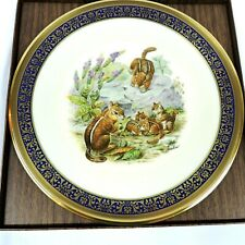 Lenox Eastern Chipmunks 1976 Boehm Woodland Wildlife Plate 10.5 In Limited Usa