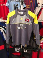 Boys AC Milan goalkeeper football shirt size 9-10 years Adidas 2011-2012