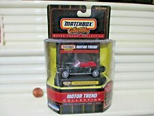 Matchbox Collectibles Motor Trend 1964 1/2 Black Ford Mustang Convertible Car NB