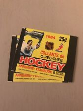 (LOT OF 2)!! 1984-85 OPC STICKER PACK WRAPPERS w/ WAYNE GRETZKY