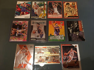 Devin Booker Baskeball Card Lot. With Prizm Rookie RC Emergent. Points In Paint