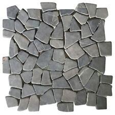vidaXL 11pcs Gold/Black Marble Stone Mosaic Tiles 30x30cm Floor Wall Garden