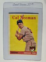 1958 Topps #33 Cal Neeman Chicago Cubs Baseball Card
