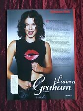 "LAUREN GRAHAM - FILM STAR - 1 PAGE PICTURE -"" CLIPPING / CUTTING"""