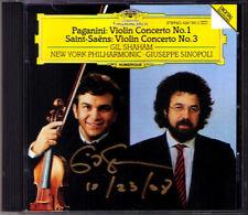 Gil SHAHAM Signed PAGANINI SAINT-SAENS Violin Concerto SINOPOLI CD Violinkonzert