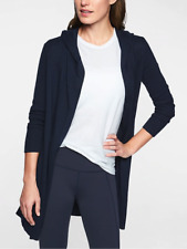 NWT Athleta Highland Wrap Sweater Cardigan Hooded, Navy, sz M Medium