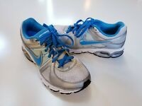 Nike Air Max Moto 9 + Womens Size 7 Blue Gray Athletic Running Training Shoes