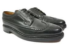 Vintage Florsheim Imperial, 5 nail, V cleat, wingtip, 7.5 D Black Shoes Derby