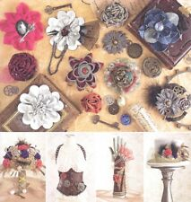 Fabric Flower Pins Brooches Millinery Flowers Sewing Pattern UNCUT Pin Brooch