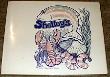 Vintage Rare SHELLEY'S RESTAURANT Menu-OAKVILLE ONTARIO CANADA-Jumbo Martini 195