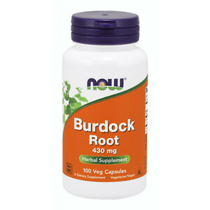 Now Foods Burdock Root 430Mg 100 Caps Made in USA FREE SHIPPING