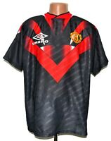MANCHESTER UNITED 1995/1996 TRAINING FOOTBALL SHIRT JERSEY UMBRO SIZE XL ADULT