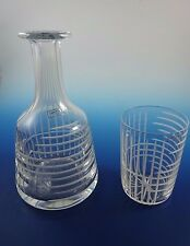New Saint Louis / Hermes  France L'Insomnie Clear Night Carafe & Drinking Glass