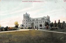 Ohio postcard Springfield, Masonic Home