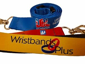 Full colour custom printed lanyards 20mm Safety release and metal clip