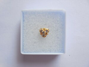 Gold Plated Nose Stud Piercing Nose Screw Wedding Jewelry Ethnic Nose Ring