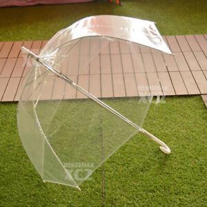 5x Clear Transparent Umbrella Parasol Rain Walking PVC Dome Wedding Party Favor