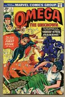 Omega The Unknown #1-1976 fn- 5.5 Ed Hannigan Joe Sinnott Marvel