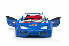 Autobett GT 999 blau mit Türen Vollfunktion Sound und LED-Beleuchtung Jugendbett