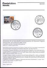 ITALIA 2010 GIOVANNI VIRGINIO BOLLETTINO COMPLETO DI FRANCOBOLLI ANNULLO FDC