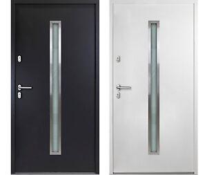 Aluminium HAUSTÜR Nick weiß / anthrazitgrau Nebeneingangstür Kellertür Außentür