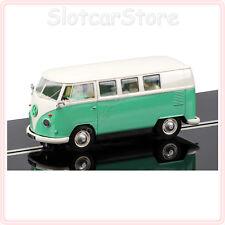 """Scalextric c3760 VW furgoneta Volkswagen Transporter Camper Van """"Green beige"""" 1:32 dpr"""