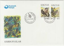 Faroe Islands 1998 Birds, Blackbird & Starling First Day Cover