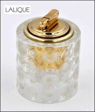 VINTAGE SIGNED LALIQUE FRANCE CRYSTAL FLORAL CIGARETTE LIGHTER