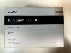 Sigma 18-35mm f/1.8 DC HSM Art Lens for Canon DSLR Cameras