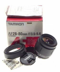 TAMRON AF-28-80mm F3.5-5.6 Aspherical lens fits pentax AF SLR camera boxed Mint-