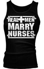 Real Men Marry Nurses Nursing Pride Proud Gift Idea Present Boy Beater Tank Top
