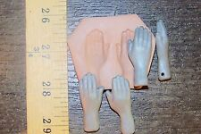 Hand mold back side polymer clay for dolls jewelry beads by lori barbee ooak
