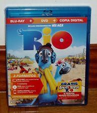 RIO COMBO BLU-RAY+DVD DIBUJOS ANIMADOS AVENTURAS COMEDIA NUEVO PRECINTADO R2