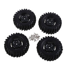 New 4PCS Rubber Tires Wheel Rims HPI 1:10 Off-Road Car Rock Crawler 210051