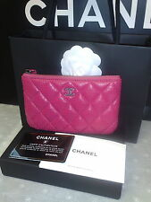 CHANEL PINK LAMBSKIN O CASE PURSE LIMITED EDITION GIFT BAG AND BOX