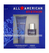 STETSON* 2p Gift Set/Lot Cologne Spray + After Shave Lotion ALL AMERICAN (boxed)