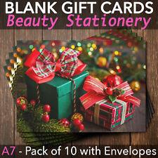Christmas Gift Vouchers Blank Beauty Salon Card Nail Massage x10 A7+Envelopes