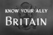 U.S. Army Soldier In Great Britain Know Your Ally Informational WW2 Films DVD
